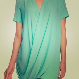 Lush Surplice Tunic Blouse